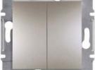 Выключатель двуклавишный самозажимной Schneider Electric Asfora 10А Бронза EPH0300169