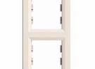 Рамка двухместная Schneider Electric Asfora вертикальная Кремовая EPH5810223