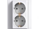 Розетка двойная с заземлением (цвет: белый) EPH9900121